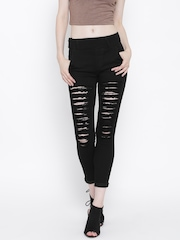 GOFAB Black Distressed Jeggings