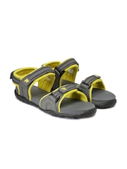 FILA Men Grey & Yellow FABIOLA Sports Sandals