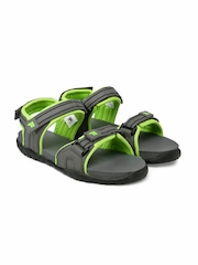FILA Men Grey & Green FABIOLA Sports Sandals