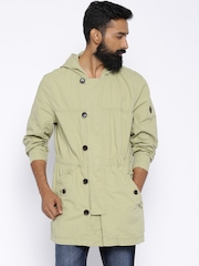 Timberland Light Khaki Hooded Parka Jacket