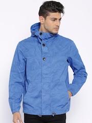 Timberland Blue Printed Hooded Parka Jacket