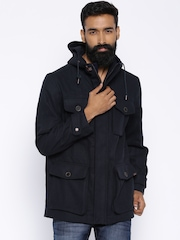 Timberland Navy Hooded Utility Jacket