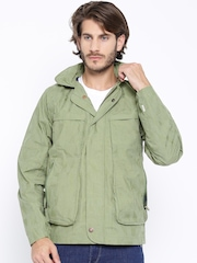 Timberland Green Hooded Utility Jacket