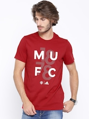 Adidas Red Manchester United Printed T-shirt
