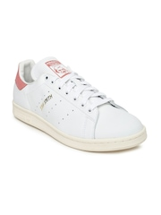 Adidas Originals Men White Stan Smith Leather Sneakers