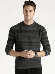 Antony Morato Grey Striped Sweater