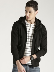 Antony Morato Black Hooded Jacket