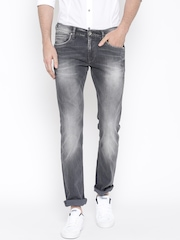 Pepe Jeans Men Grey Washed Vapour Slim Fit Jeans