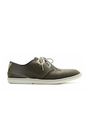 Timberland Men Olive Green Derby Shoes