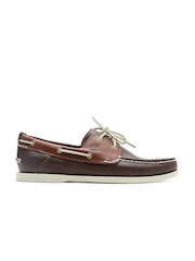 Timberland Men Brown Leather Boat Shoes