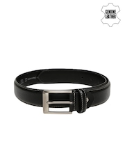 Mast & Harbour Men Black Padded Genuine Leather Belt