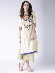 Moda Rapido Off-White Printed Kurta