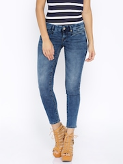 Lee Blue Ankle Length Amy Slim Fit Jeans