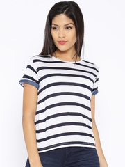 Lee Navy & White Striped T-shirt