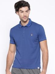 FILA Men Blue Checked Polo T-Shirt