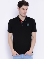 FILA Black Polo T-shirt