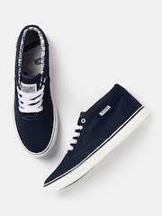 Kook N Keech Men Navy Canvas Shoes