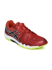ASICS Men Red Gel-Blade 5 Badminton Shoes