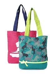 Kanvas Katha Set of 2 Printed Tote Bags