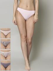 Marks & Spencer Women Pack of 5 Printed No VPL Bikini Briefs 0021P