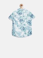 Marks & Spencer Kids Boys Blue Floral & Tropical Print Shirt
