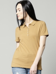 Marks & Spencer Mustard Yellow Polo T-shirt
