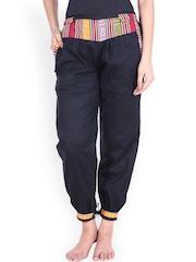 SOUNDARYA Navy Cuffed Trousers