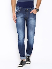 John Players Blue Skinny Fit Low-Rise Jeans