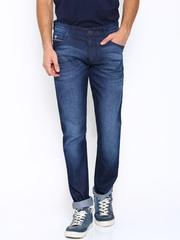 John Players Blue Slim Fit Low-Rise Jeans