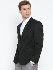 Van Heusen Black Single-Breasted Slim Fit Formal Blazer