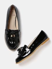 Mast & Harbour Women Black Tassel Loafers