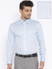Van Heusen Blue Checked Slim Fit Formal Shirt