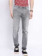 Jack & Jones Grey Low-Rise Ben Skinny Fit Jeans