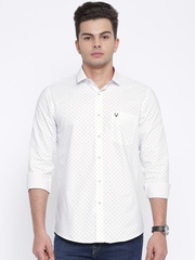 Allen Solly Men White Printed Casual Shirt