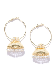 Fida Gold-Toned Jhumka Earrings