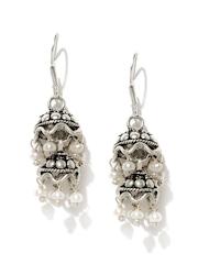 Fabindia Girls Oxidised Silver Jhumka Earrings