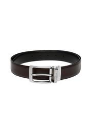 INVICTUS Men Black & Brown Leather Reversible Belt