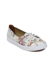 Vans Women Off-White Printed Sneakers