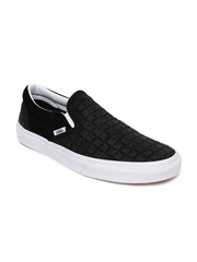 Vans Unisex Black Textured Classic Suede Slip-On Sneakers