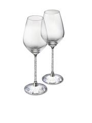 SWAROVSKI Set of 2 Crystalline Red Wine Glasses