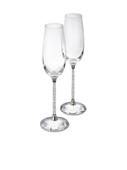 SWAROVSKI Set of 2 Crystalline Toasting Flutes