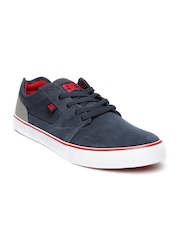 DC Men Navy Suede Tonik Skateboard Sneakers