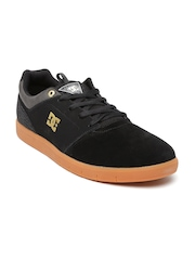 DC Men Black Cole Signature Suede Sneakers