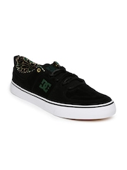 DC Men Black Suede Sneakers