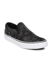 DC Men Black Trase Skateboard Slip-Ons
