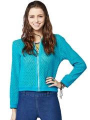 Global Desi Blue Lace Jacket