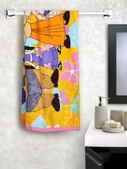 Trident Chhota Bheem Kids Multicoloured 350 GSM Cotton Bath Towel