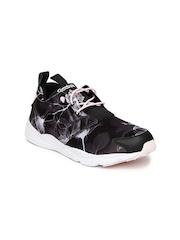 Reebok Women Black FURYLITE Graphic Print Sneakers