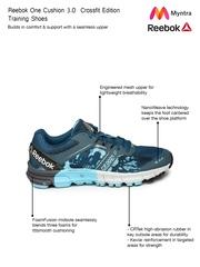 Reebok Women Blue Printed R CROSSFIT ONE CUSHION3.0 Running Shoes