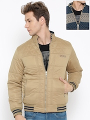 Fort Collins Khaki & Navy Reversible Padded Jacket